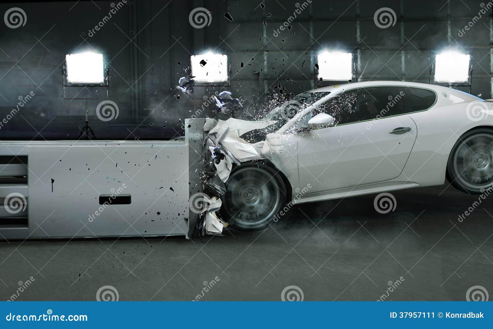 Art photo of crashed car