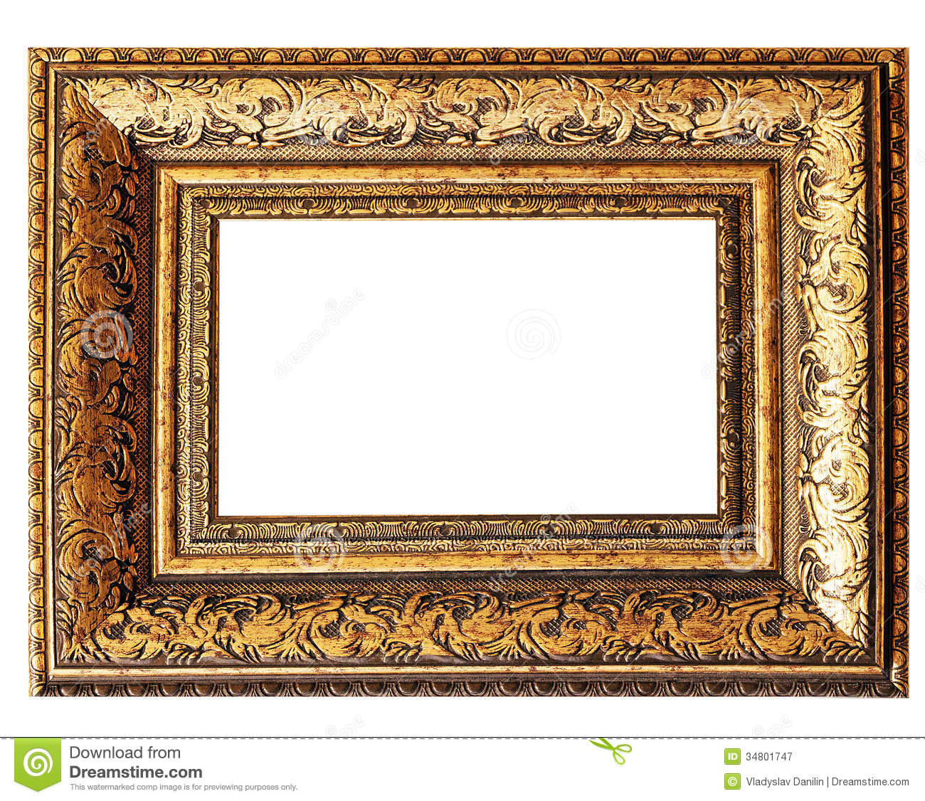 Art picture frame stock image. Image of object, baroque - 34801747