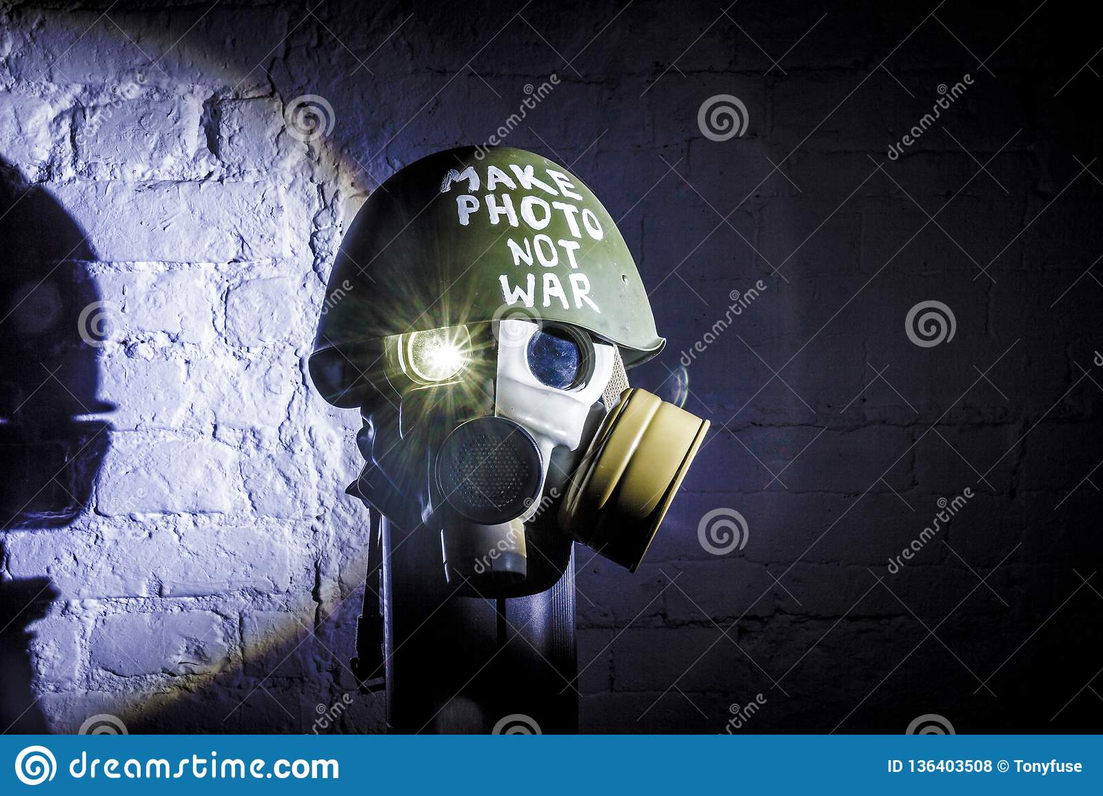 Art picture of a military gas mask