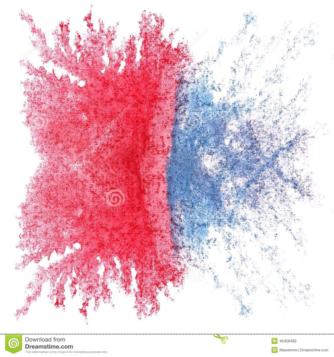 art red blue watercolor ink paint blob stock photo image of white blob 46458482 dreamstime com