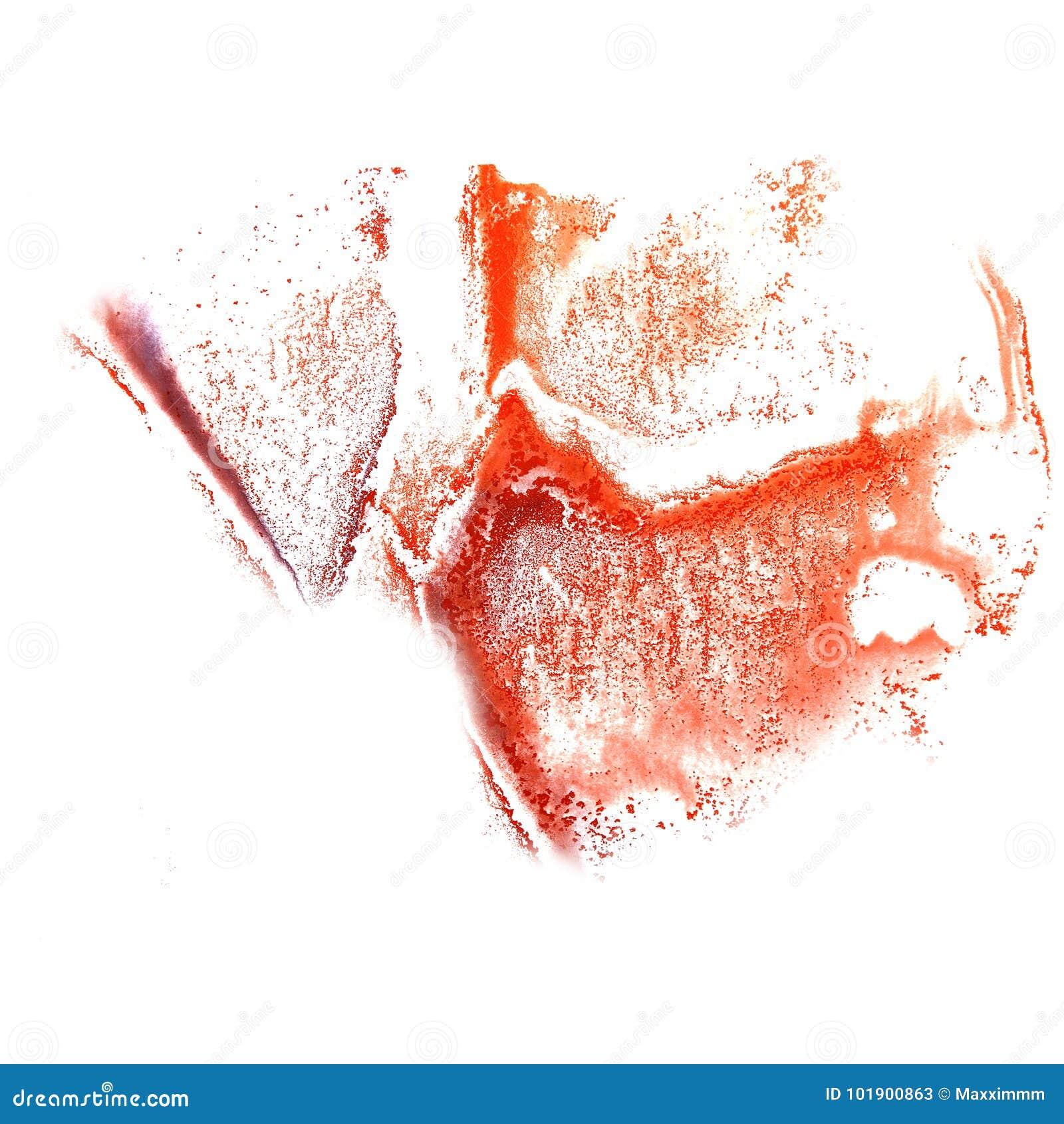 Art Red, lilac watercolor ink paint blob watercolour splash colo