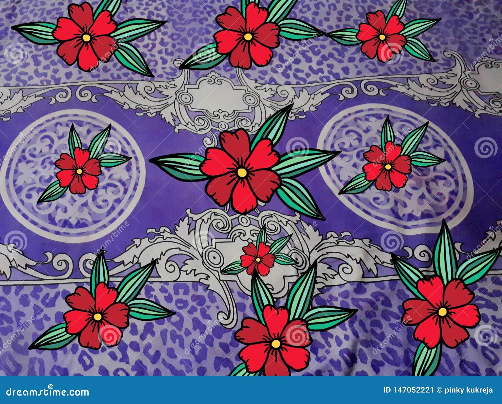 Art rose rouge de tissu de conception