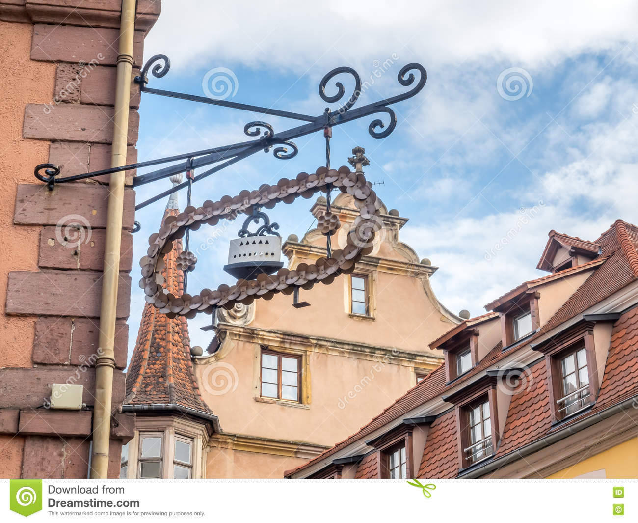 official photos 8589f 6ca6b Art Shop Sign In Colmar, France Editorial Photo - Image of ...