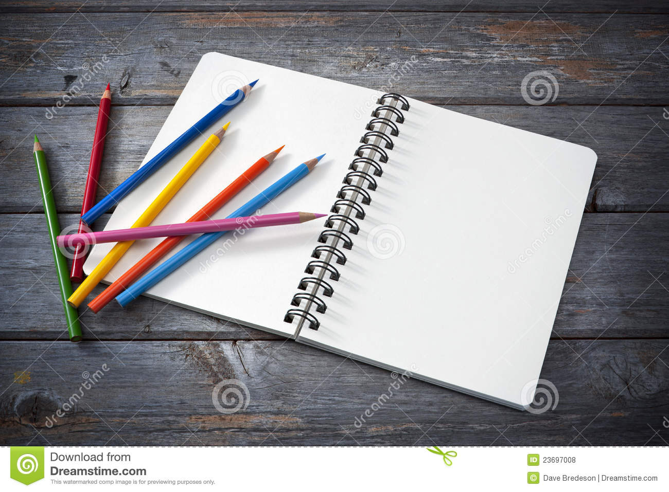 Art Sketchpad Colored Pencils Stock Photo - Image 23697008