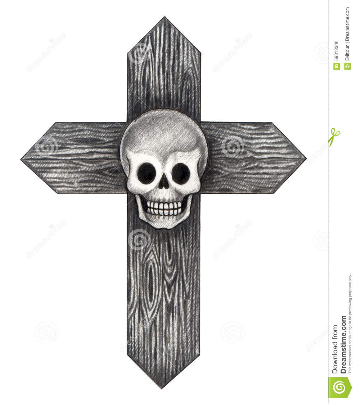 art skull cross tattoo stock illustration image 58318346. Black Bedroom Furniture Sets. Home Design Ideas