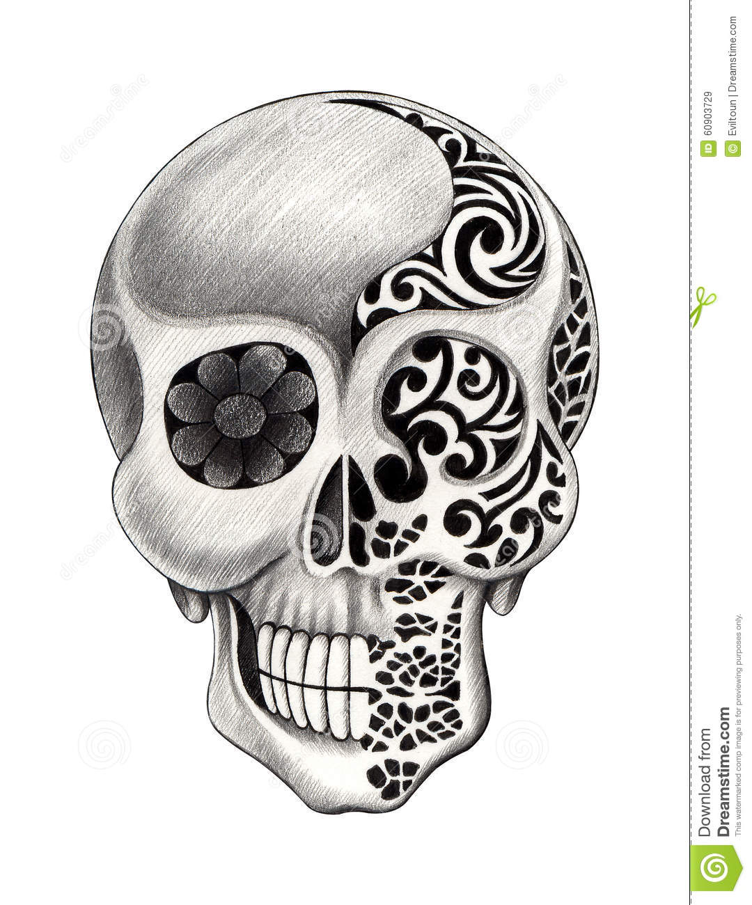 Skull tattoo designs free images for tatouage for Pictures of skull tattoos