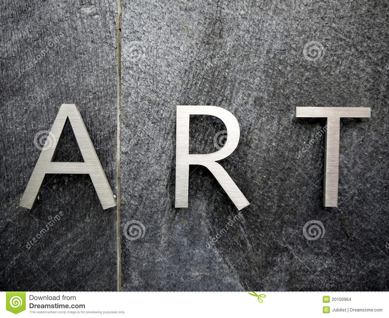 Art stainless steel letters stock photo image 20150964 for Stainless steel letters buy online