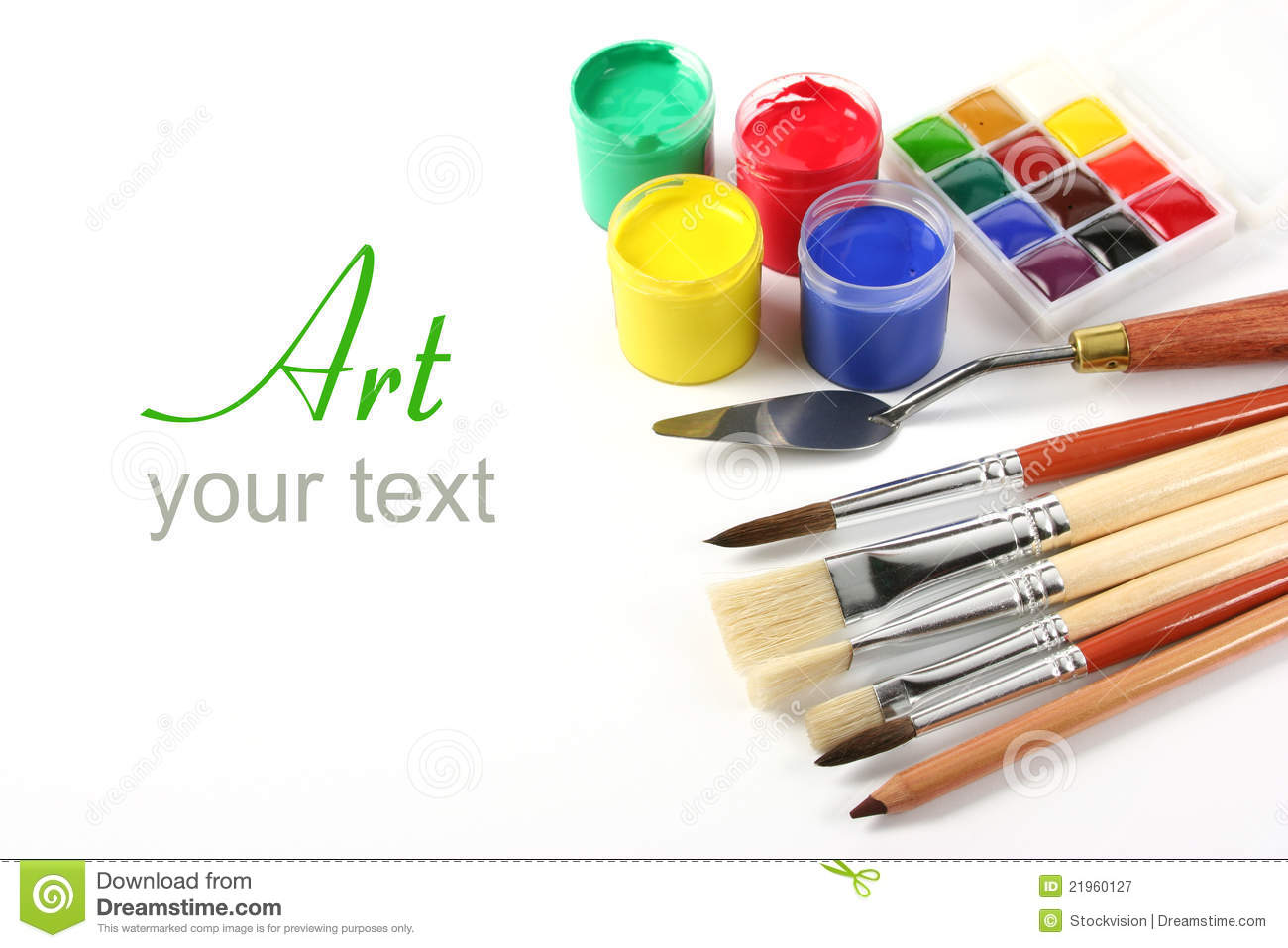 art supplies on white royalty free stock photography - Suplies