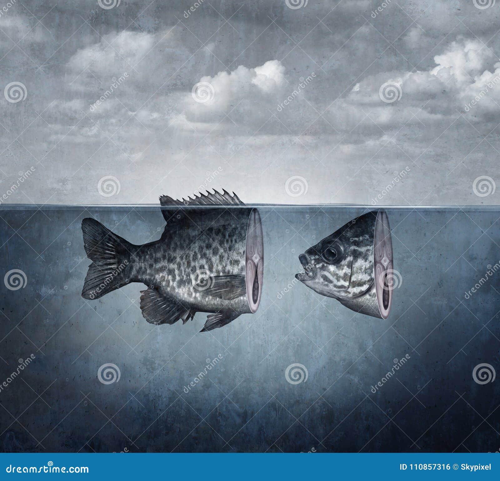 Art surréaliste de poissons