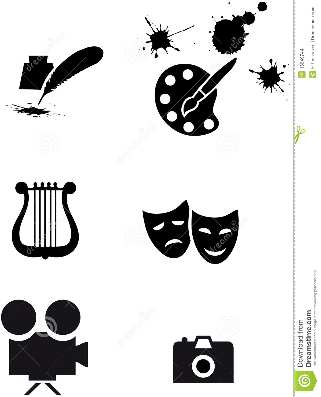 Art Symbols Stock Images - Image: 16049744