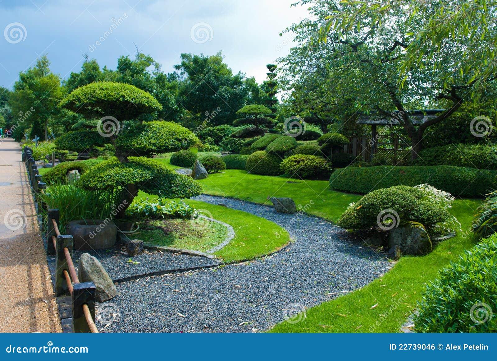 Art topiaire japonais de jardin image libre de droits - Jardin topiaire ...