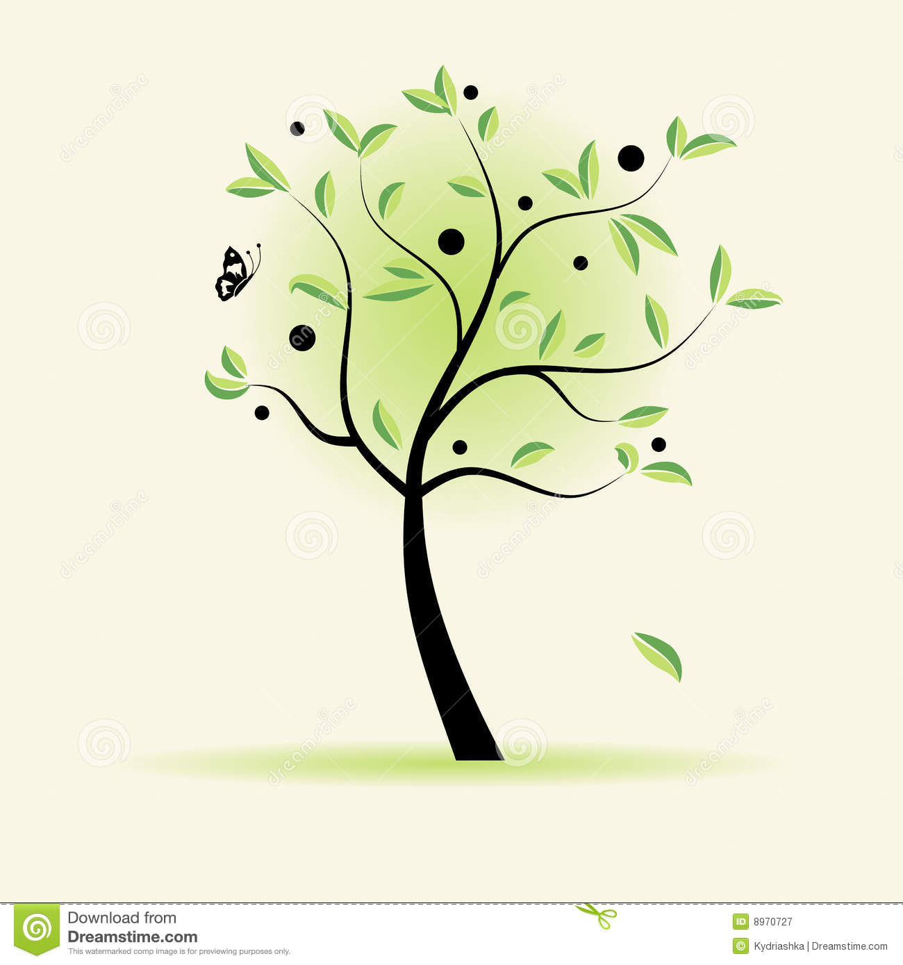 Art tree beautiful for your design royalty free stock for Beautiful drawings of trees