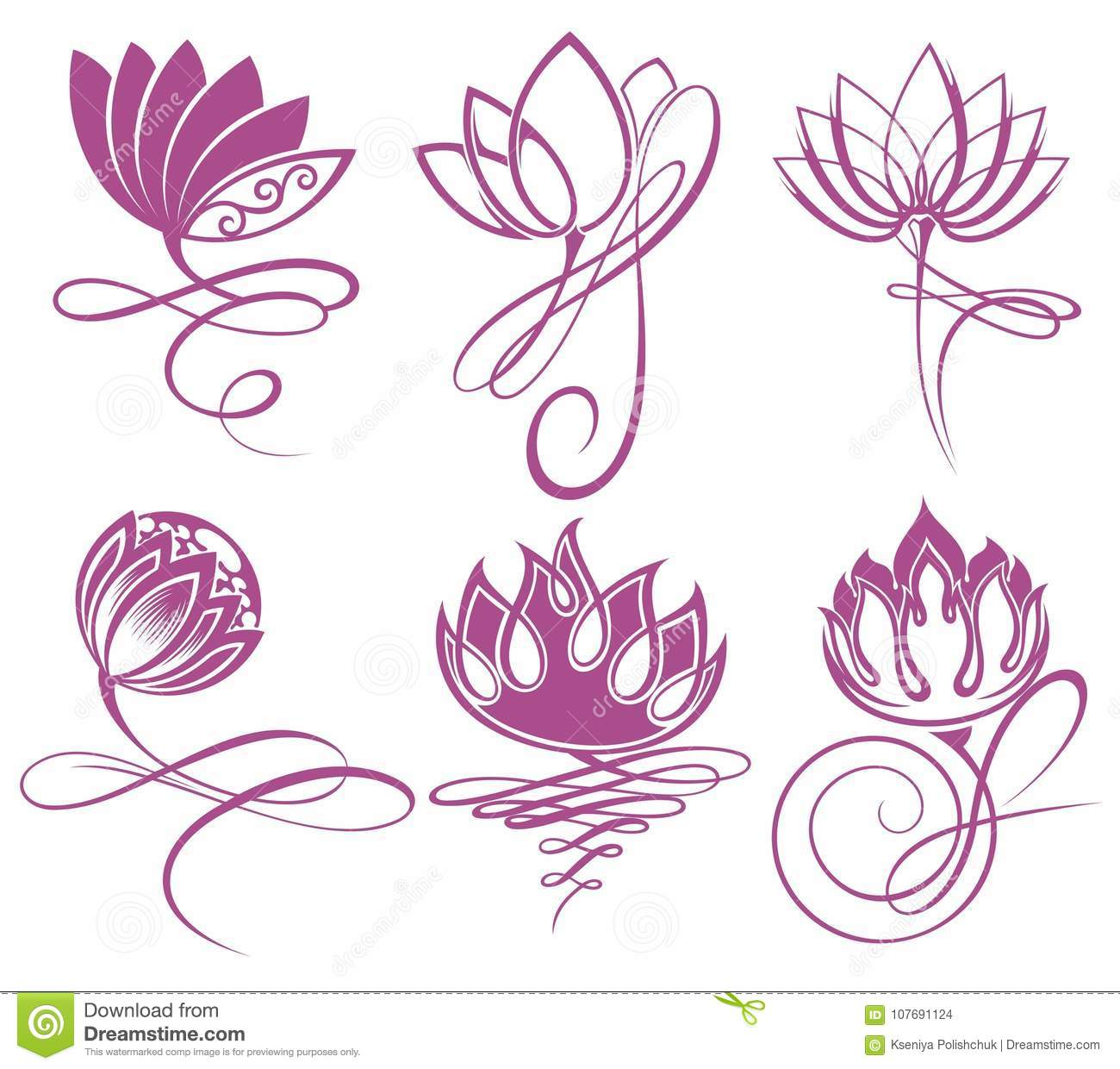 Beauty vector lotus flowers design logo template icon stock vector royalty free stock photo izmirmasajfo Images