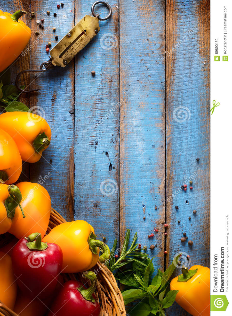 Art Vegetables On Wood. Bio Healthy Food, Herbs And Spices. Orga ...