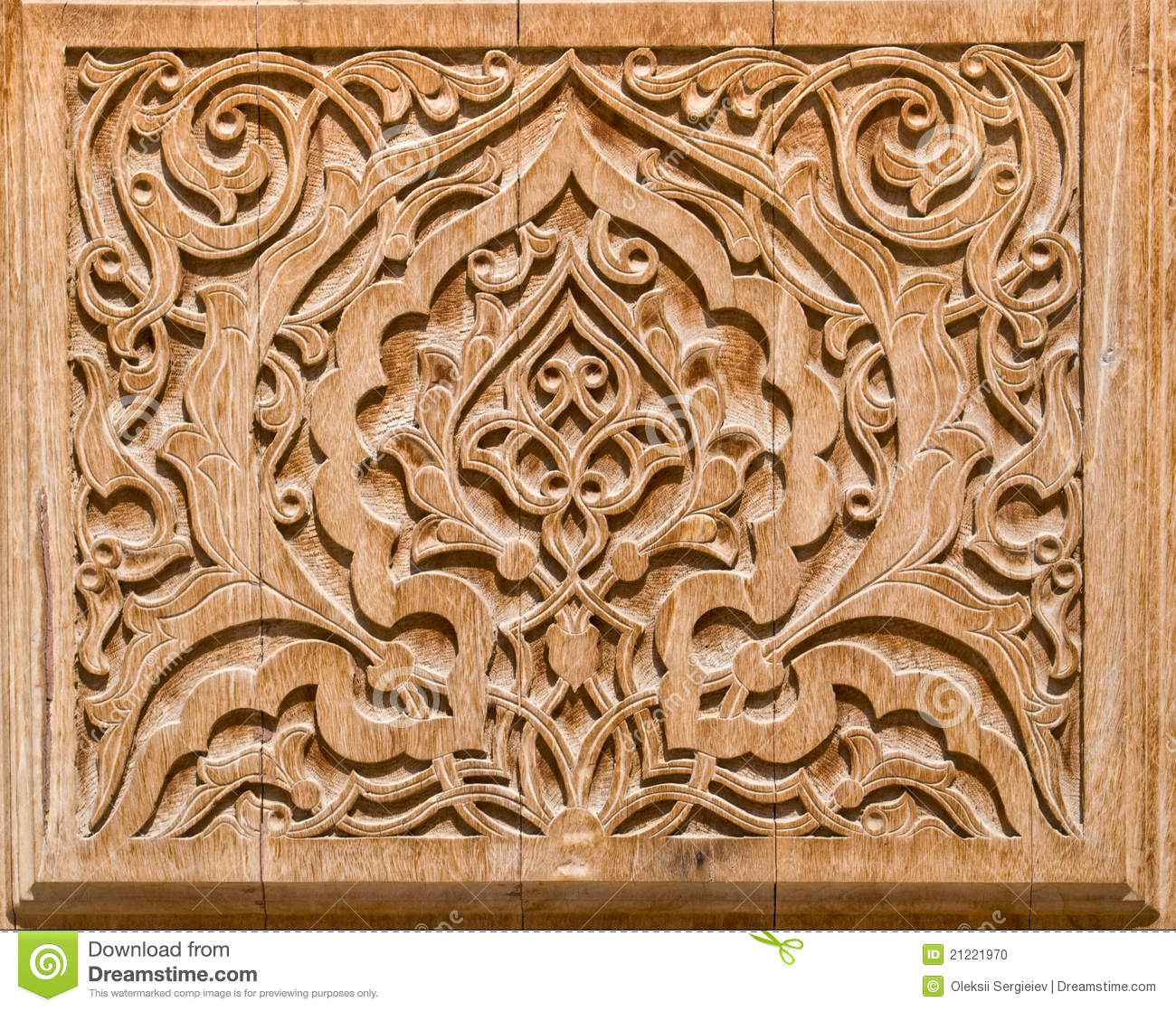Art of wood carving stock photo image ornamental