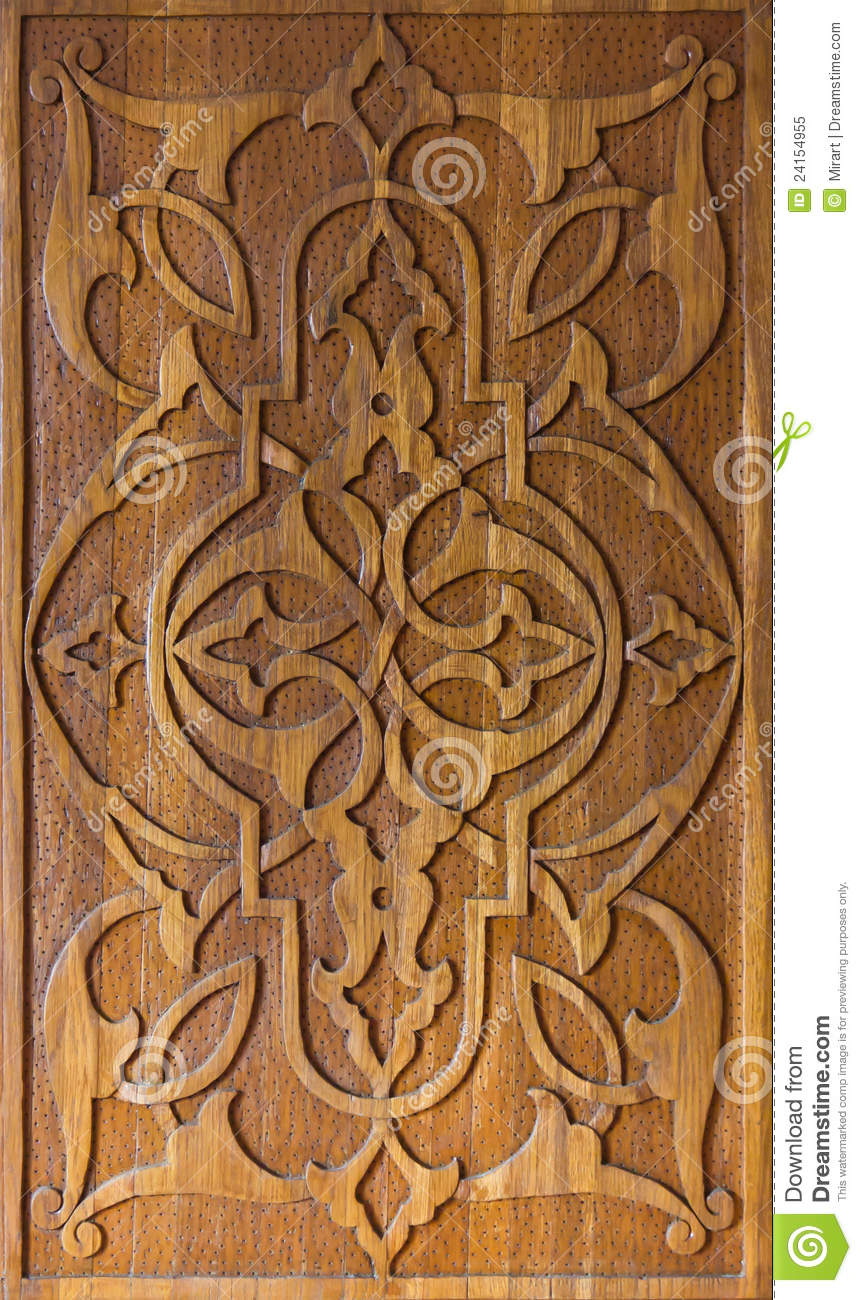 Art of wood carving stock illustration image ornate