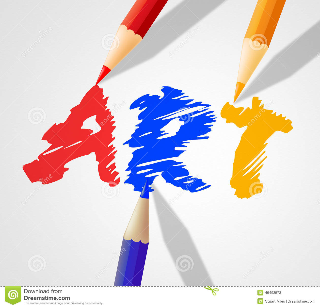 Art Word Indicates Artwork Paint And Crafts Stock Illustration - Image ...