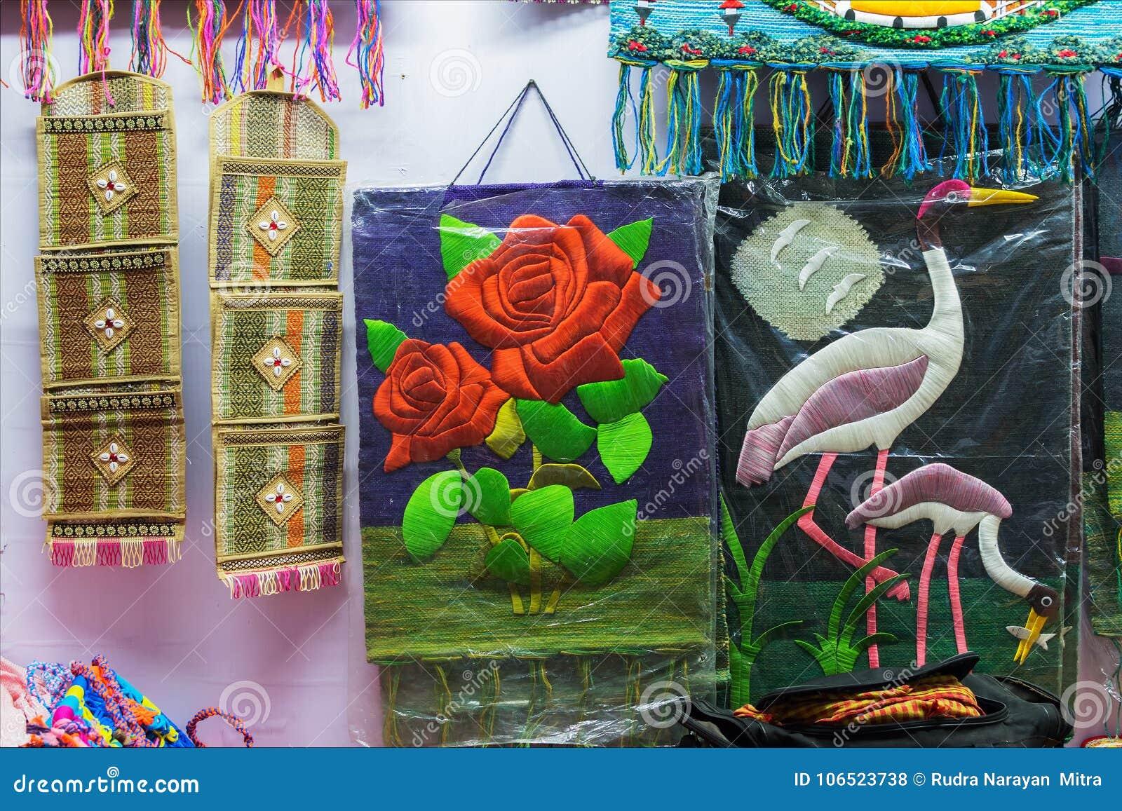 Art Work Indian Handicrafts Fair At Kolkata Stock Photo Image Of