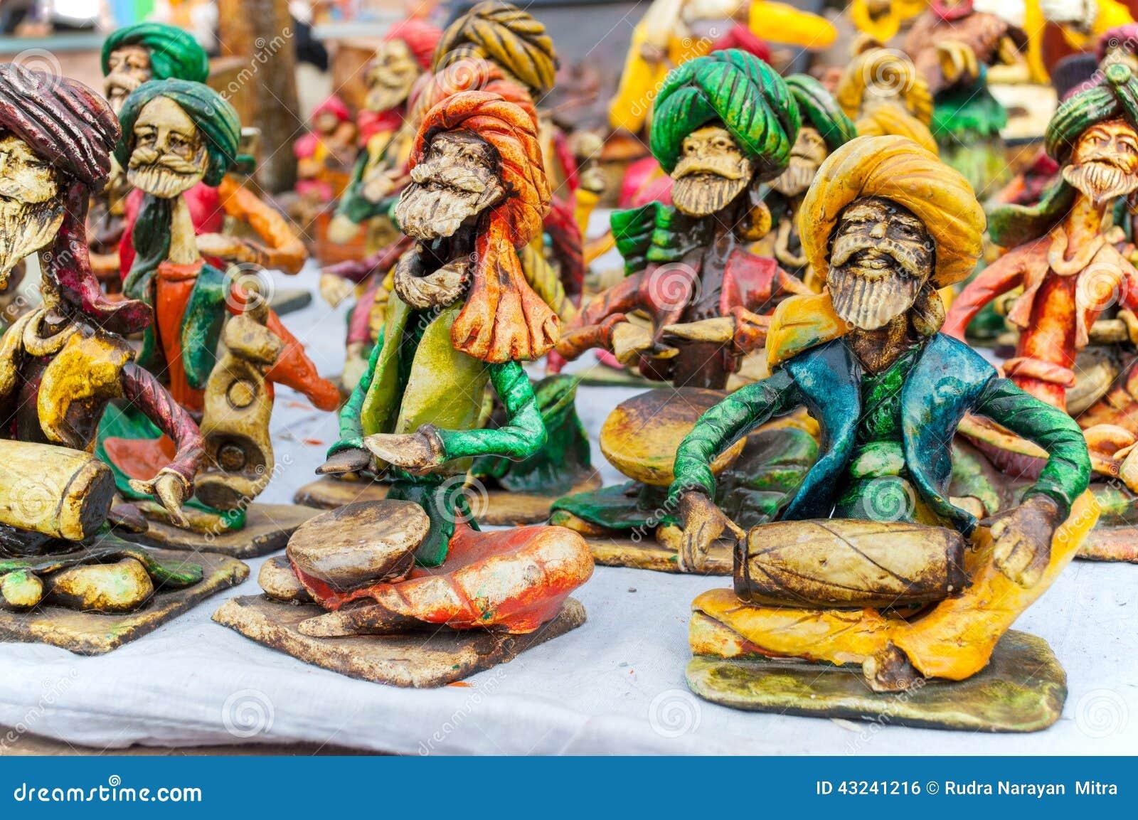 Art Work Indian Handicrafts Fair At Kolkata Editorial Photo