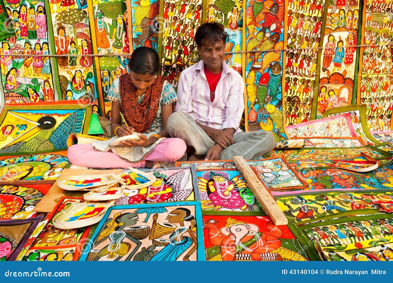 Art Work Indian Handicrafts Fair At Kolkata Editorial Stock Image