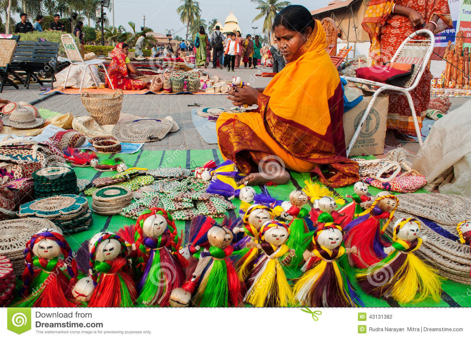 Art Work Indian Handicrafts Fair At Kolkata Editorial Photography