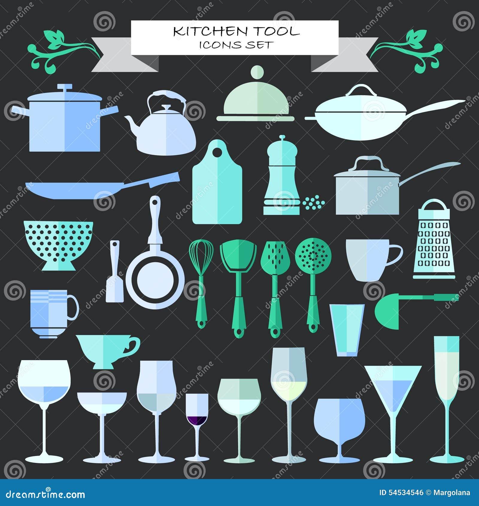Art culos de cocina y restaurante iconos de la for Articulos para restaurantes