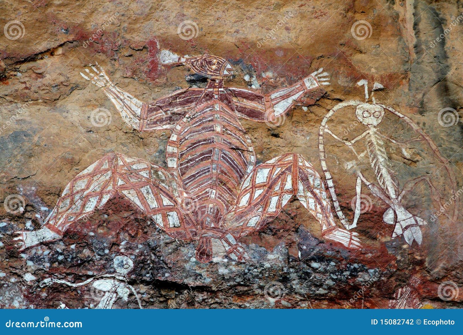 Arte aborigena della roccia fotografia stock immagine for Arte aborigena