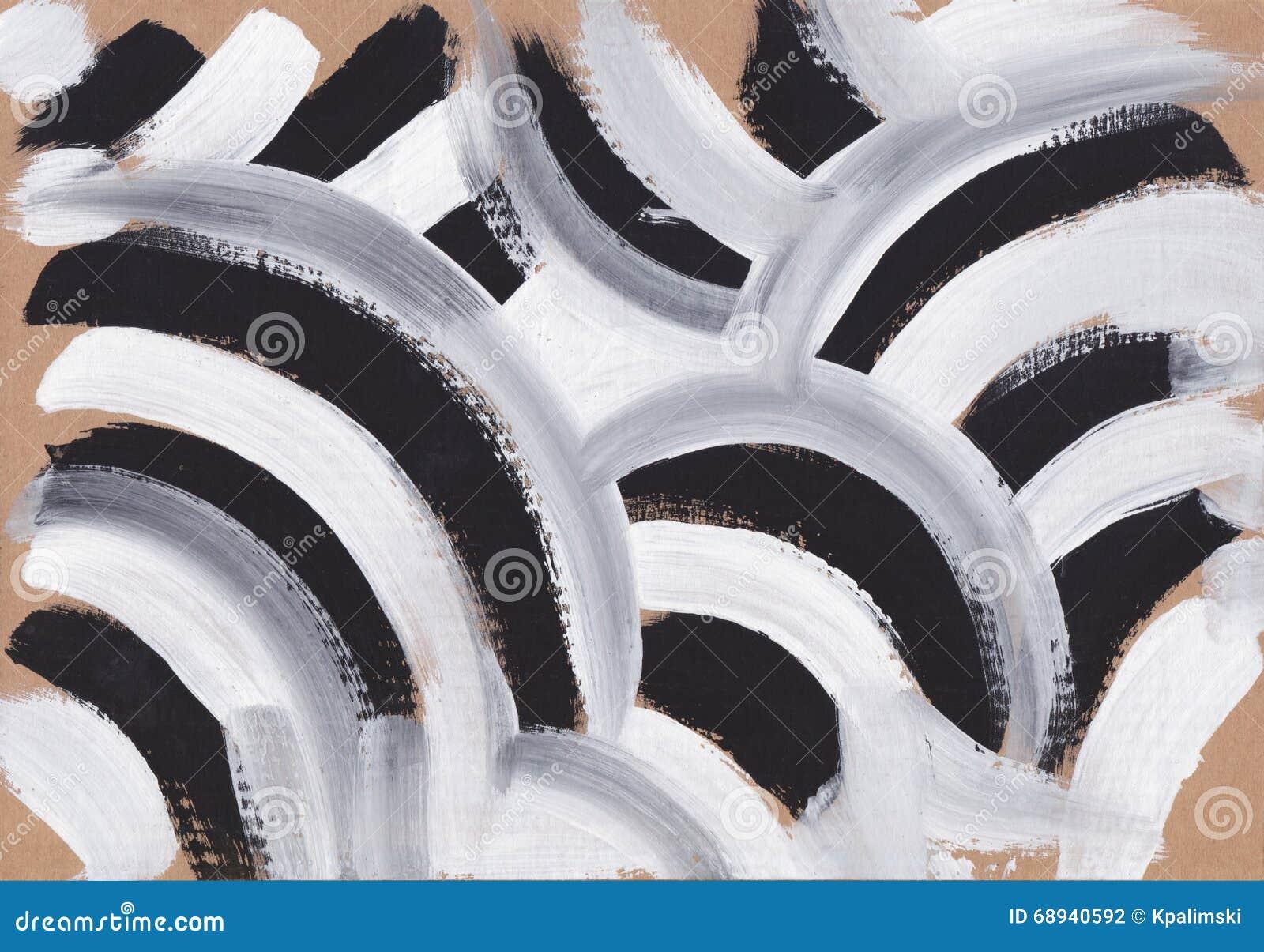 Arte Abstracto Blanco Y Negro Stock De Ilustración