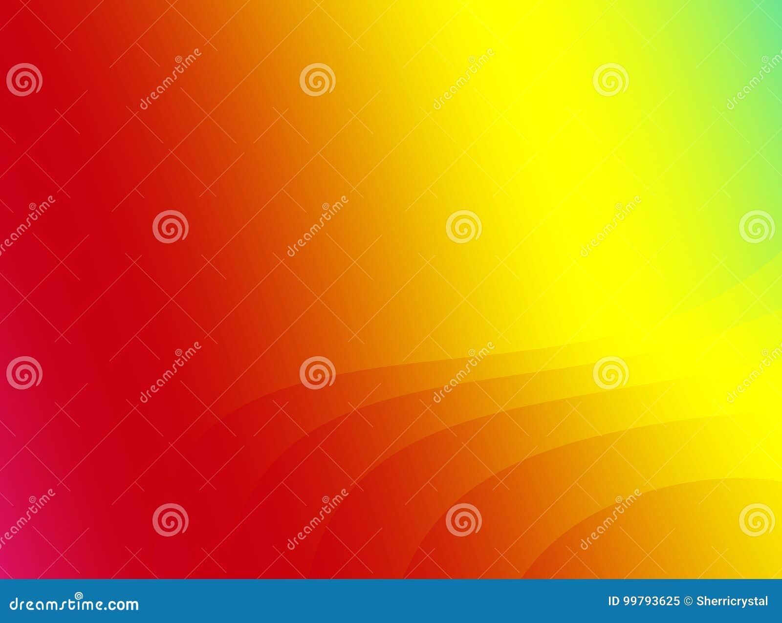 Arte abstrata vermelha do fractal do arco-íris Ilustração brilhante do fundo