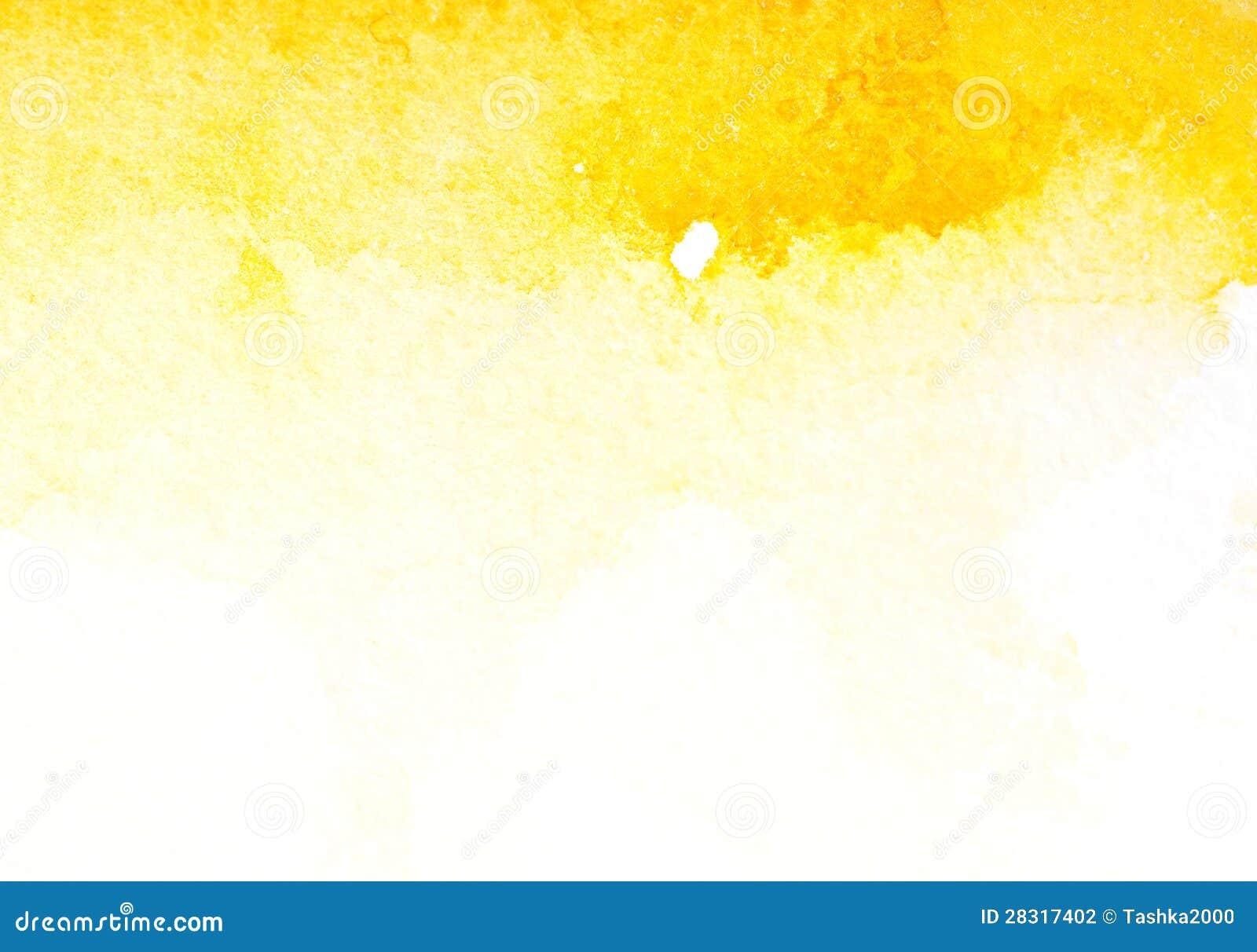 Arte amarillo abstracto de la acuarela