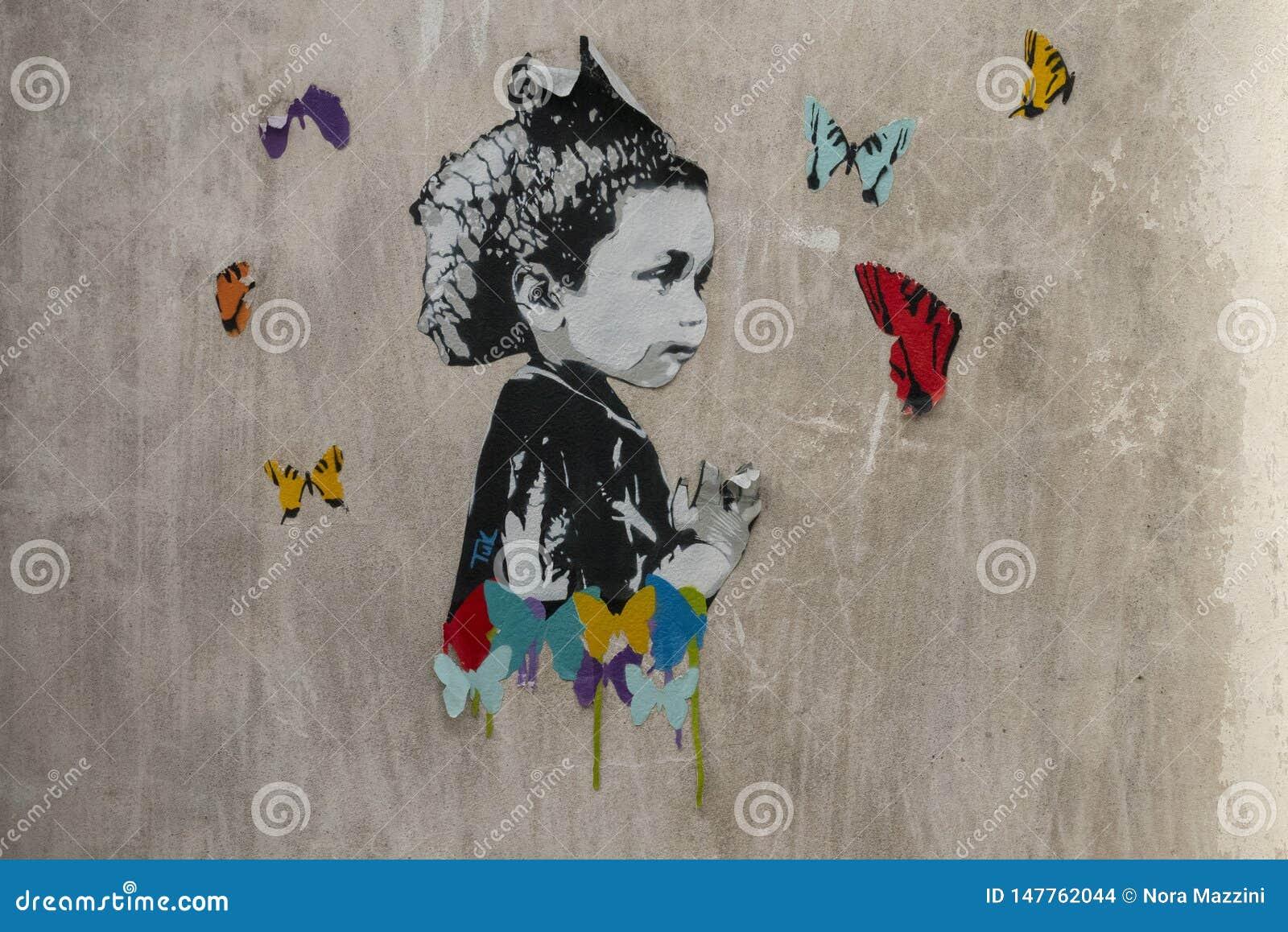 Arte an?nimo de la calle en San Telmo, Buenos Aires, la Argentina