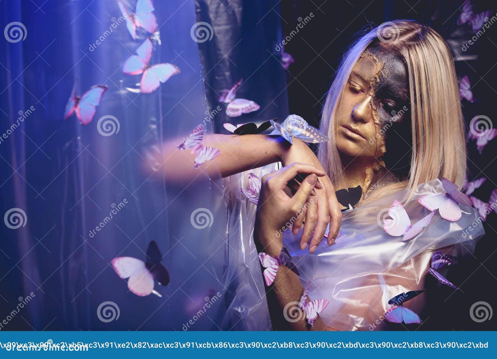 Arte da borboleta da menina