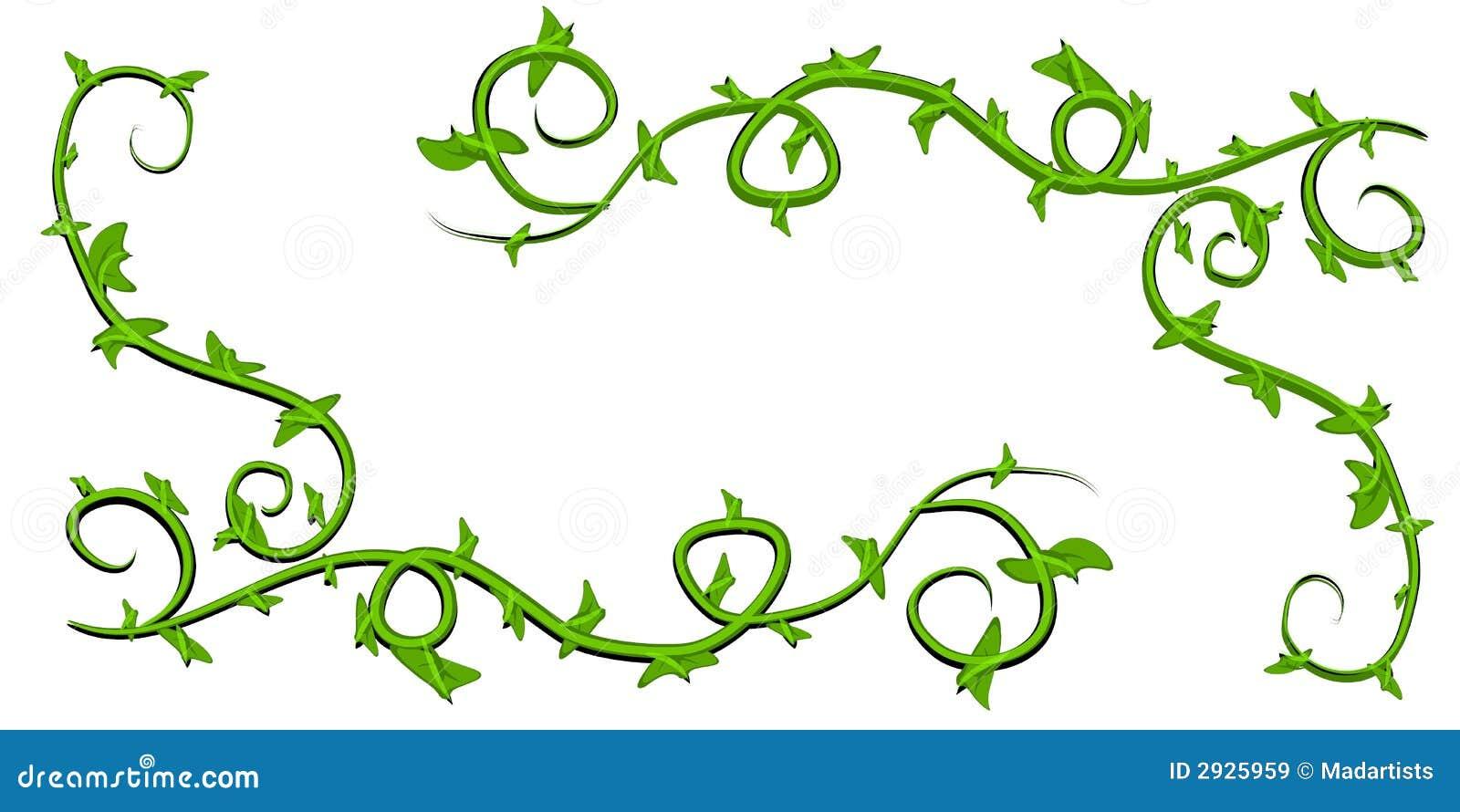 Arte de clip frondoso verde de las vides