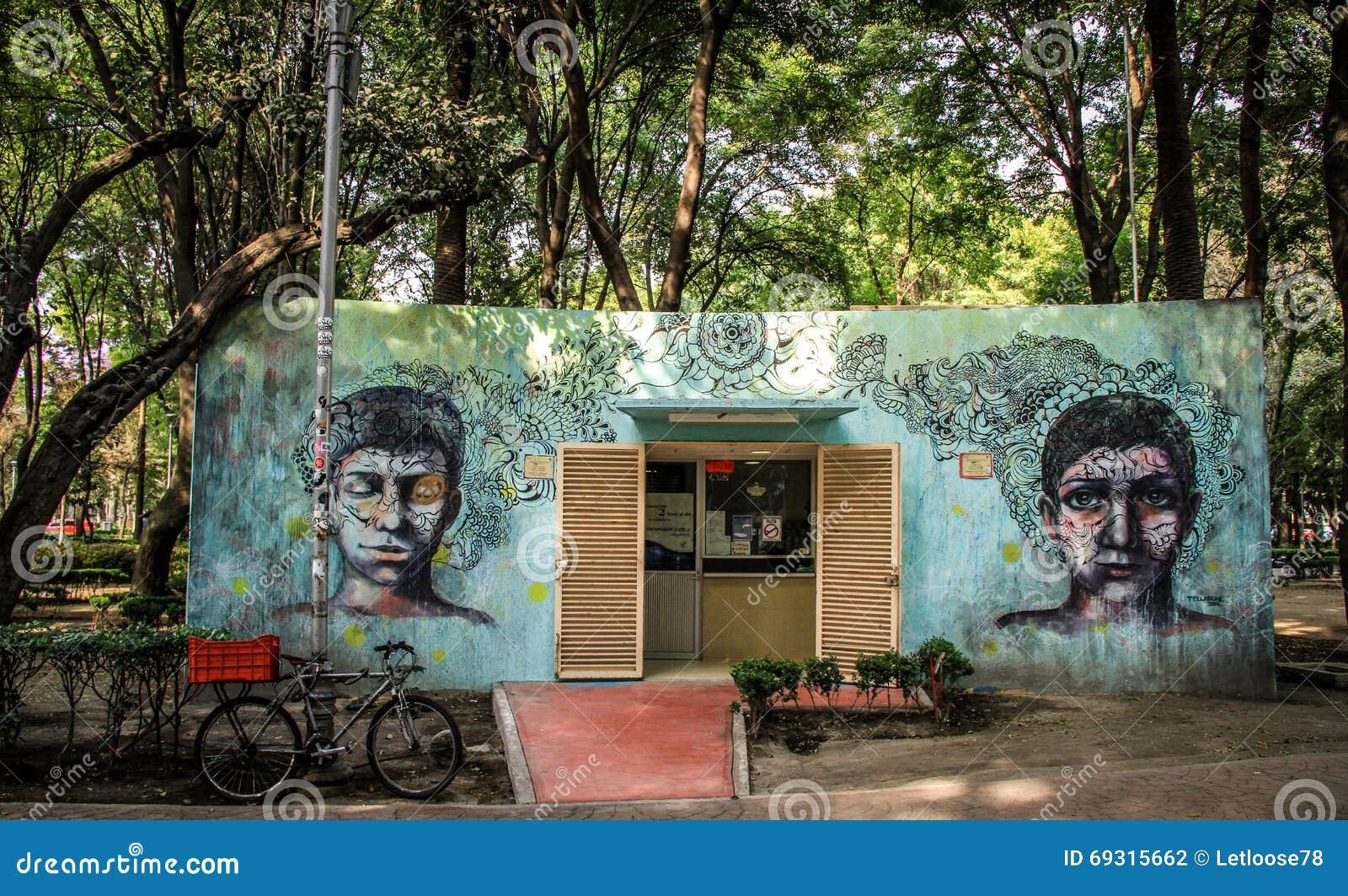 Arte de Grafiti en el La Condesa, Ciudad de México