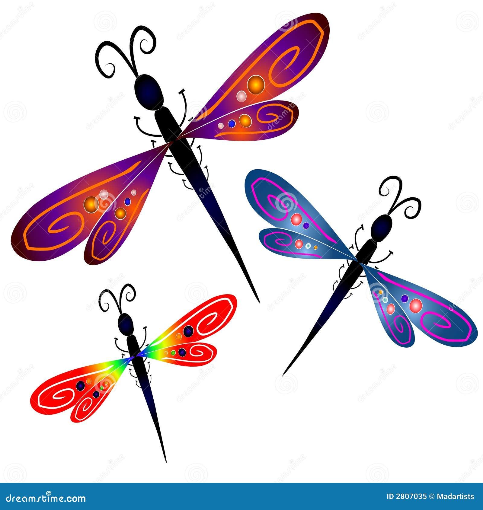 Arte de grampo abstrata da libélula