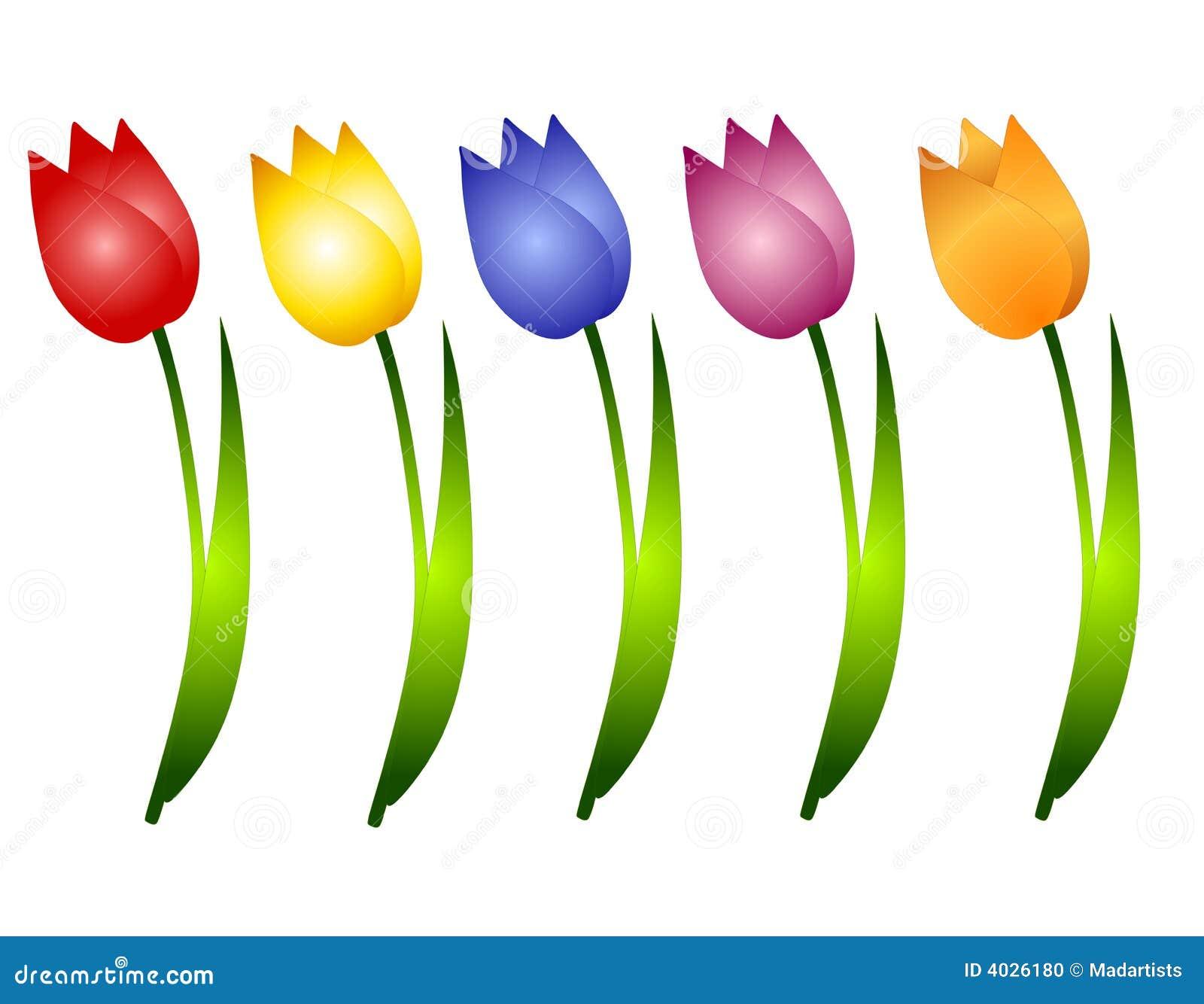 Arte de grampo Assorted das flores dos Tulips da mola