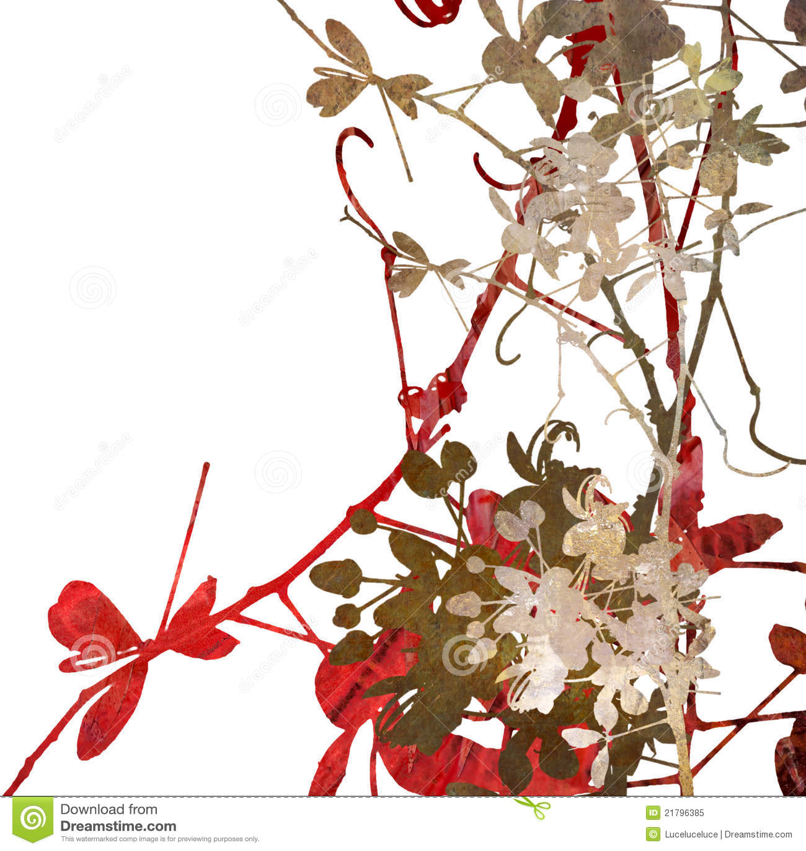 Arte de la flor en blanco