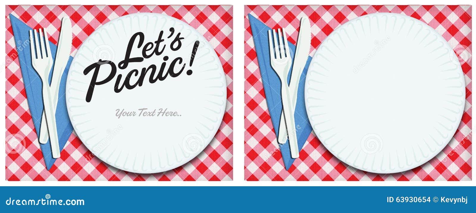 Arte de la invitación de la comida campestre