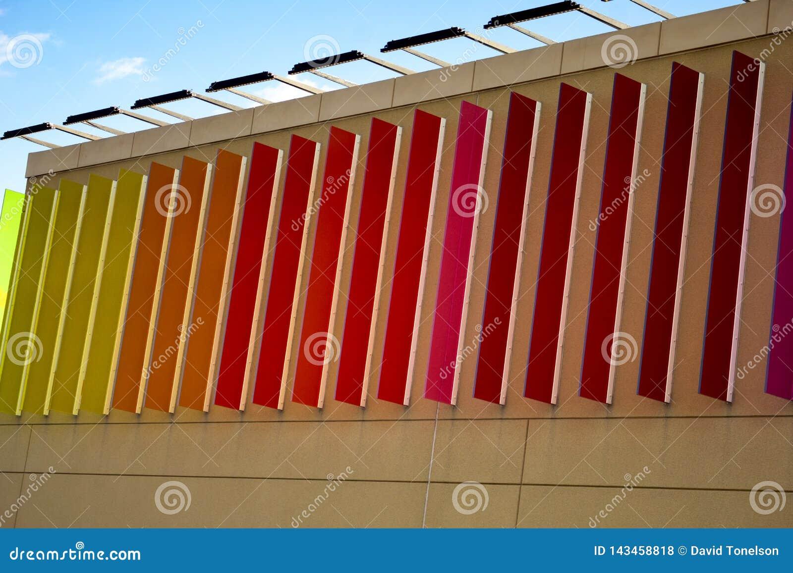 Arte de la pared de la mezcla del color