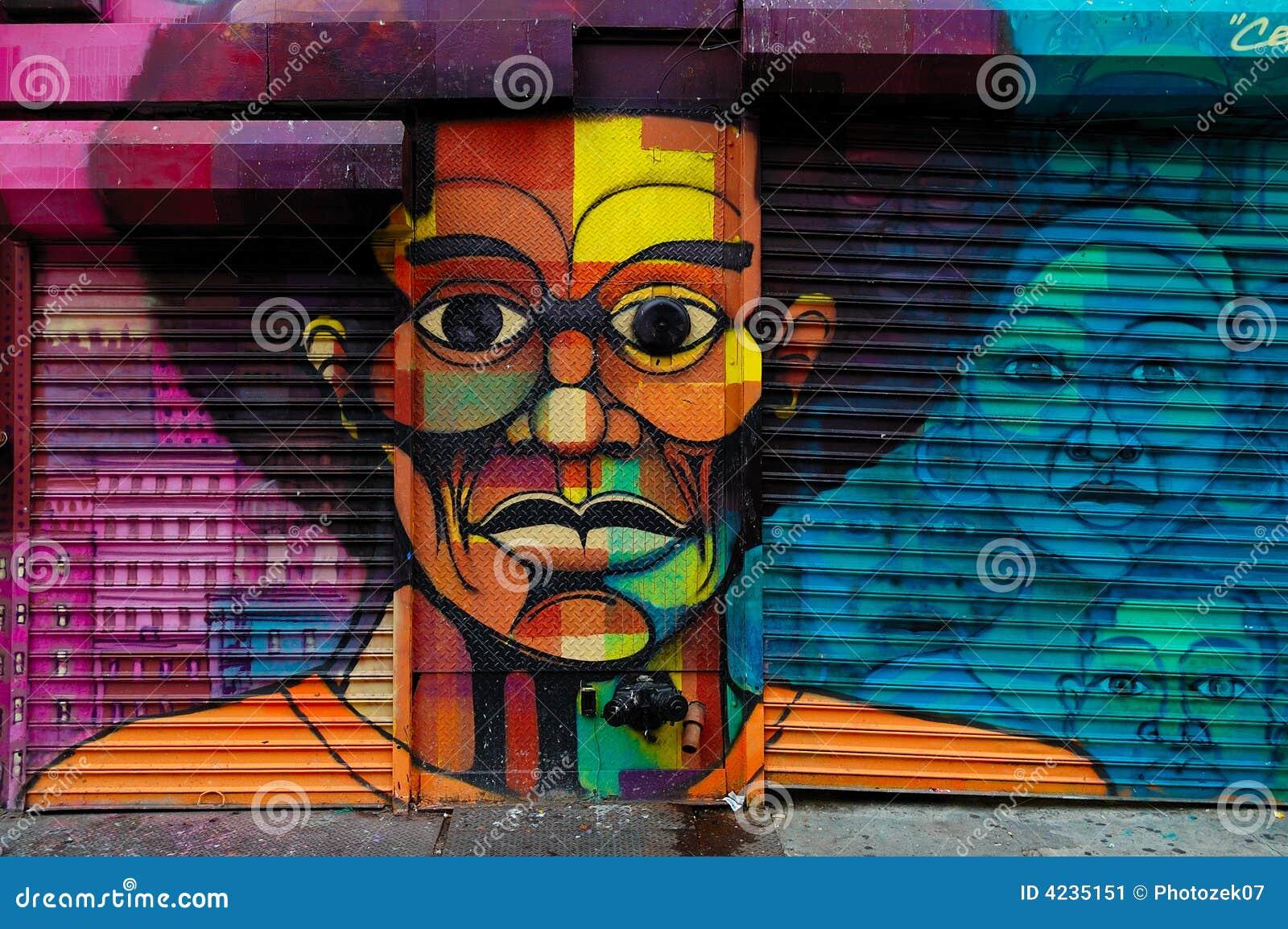 Arte de la pintada en Harlem, NYC