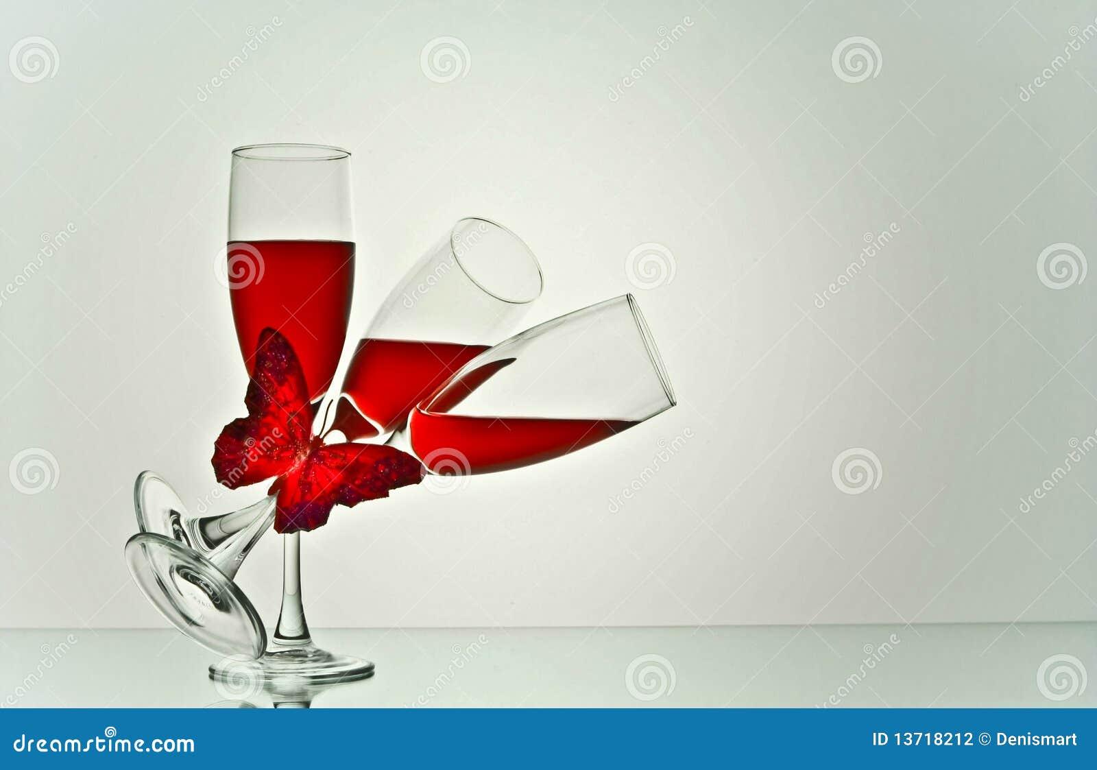 Arte de los vidrios de vino