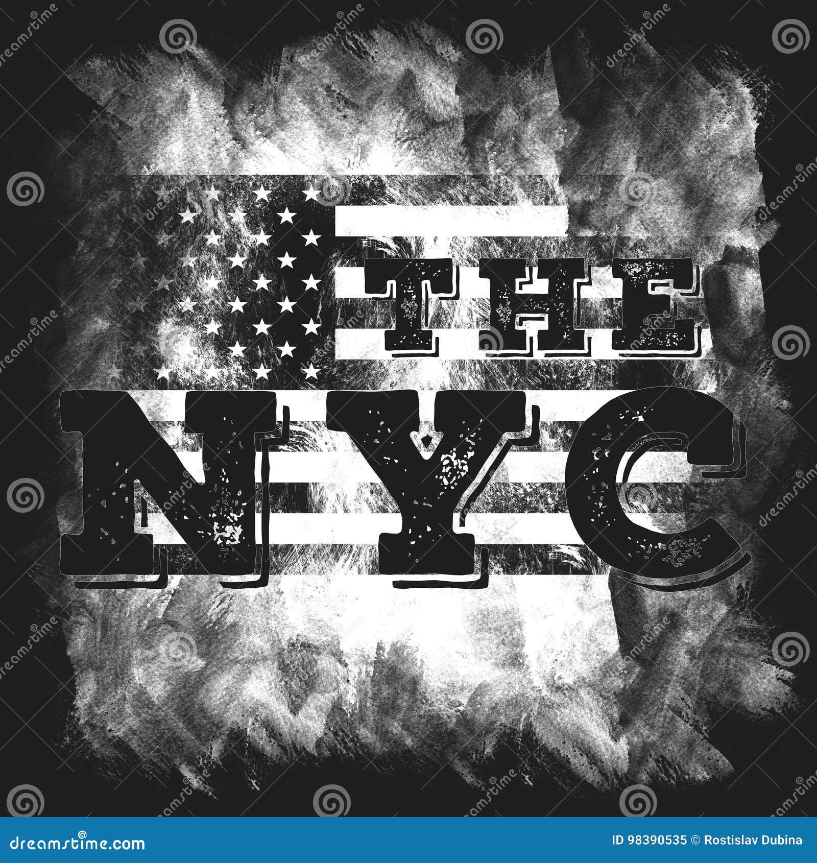 Arte De New York City Estilo Gráfico NYC De La Calle Impresión ...