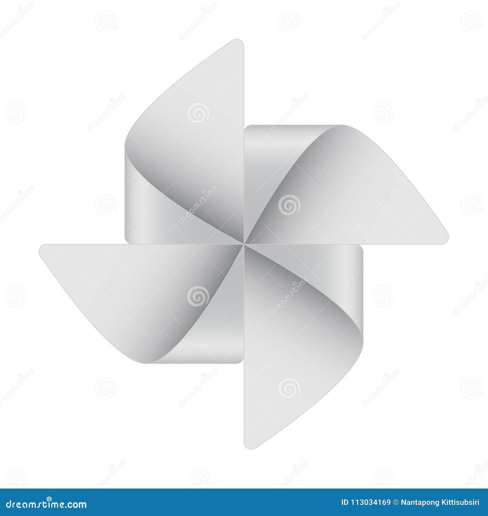 Arte del molinillo de viento de la niñez del corte del Libro Blanco