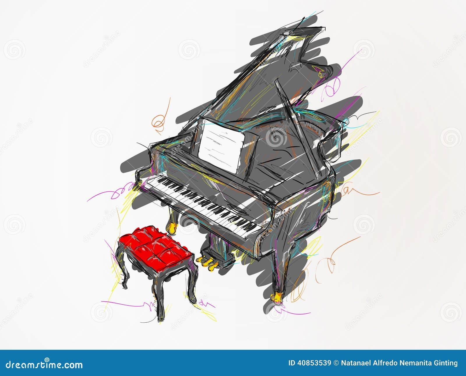 Arte del vector de la pintura del piano ilustraci n del for Disegno del piano online