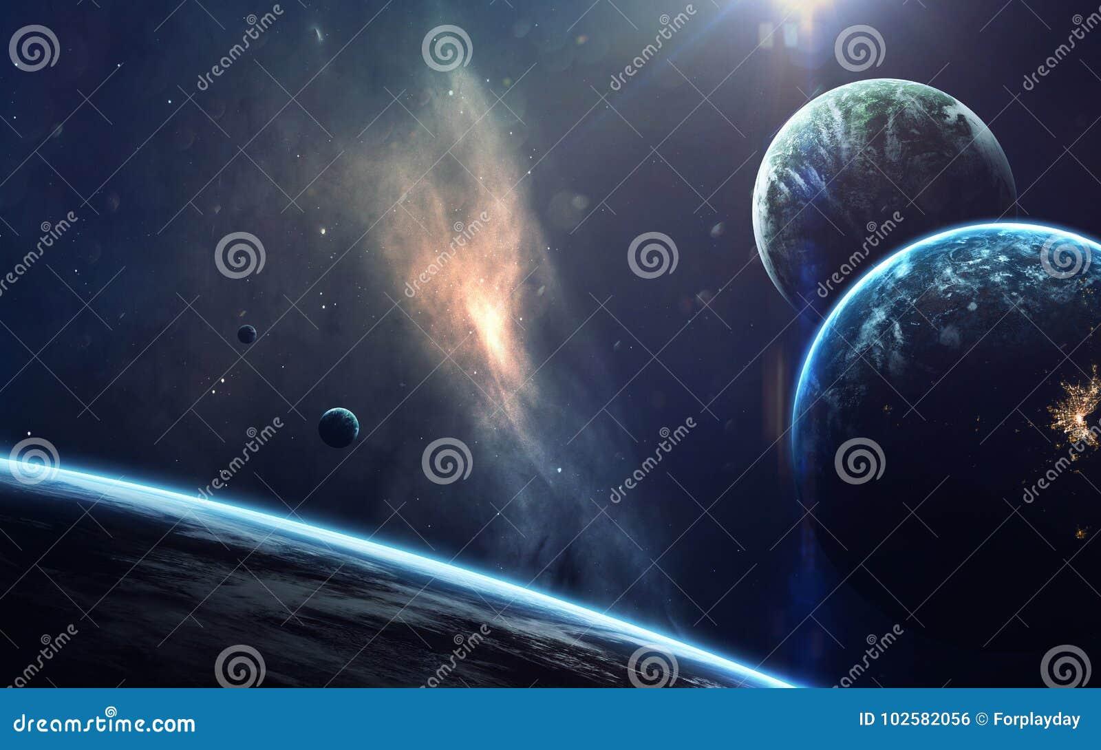 Arte della fantascienza Bellezza di spazio profondo Elementi di questa immagine ammobiliati dalla NASA
