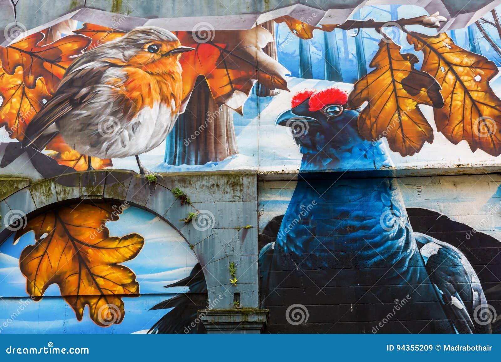 Arte della via a Glasgow, Regno Unito