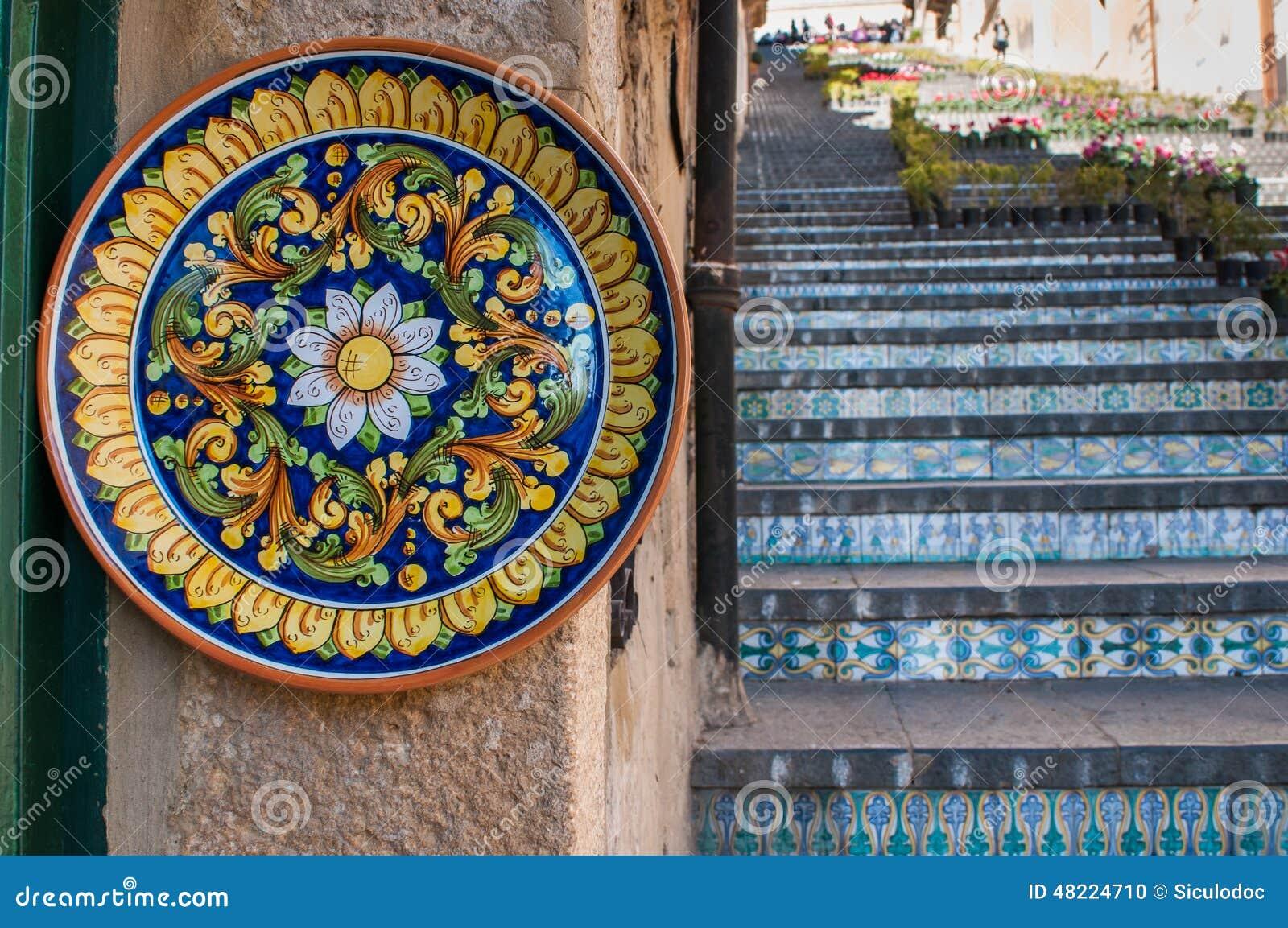 Arte di ceramico in sicilia fotografia stock immagine di