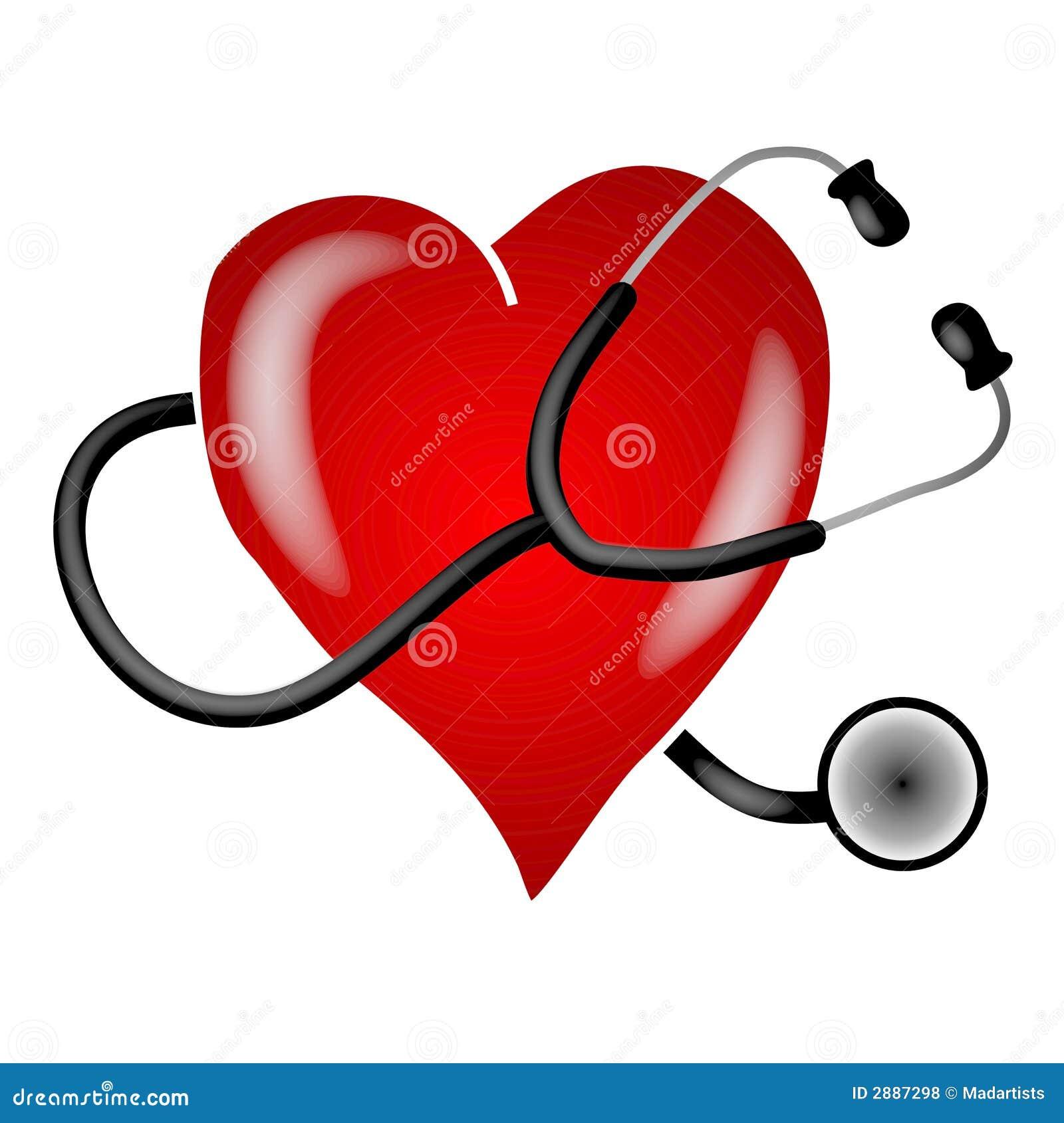 Arte di clip del cuore dello stetoscopio illustrazione di for Clipart cuore