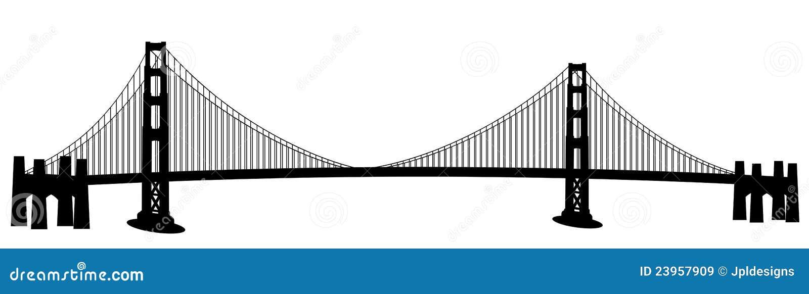 Arte di clip del ponticello di cancello dorato di San Francisco