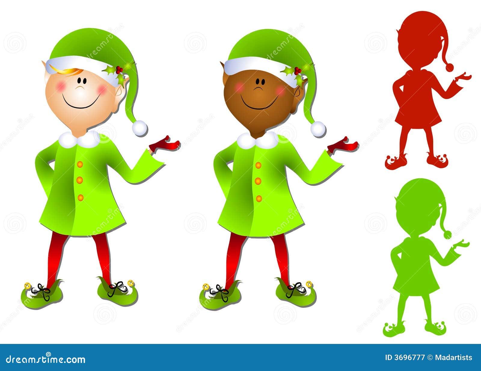 Arte di clip sorridente dell elfo della Santa del fumetto